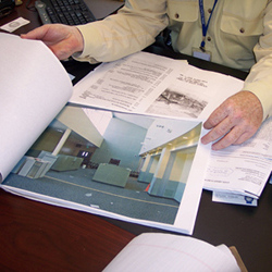 Picture of a business document being reviewed.