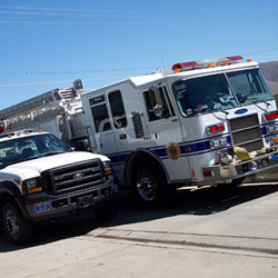 Picture of Fire Department vehicles.