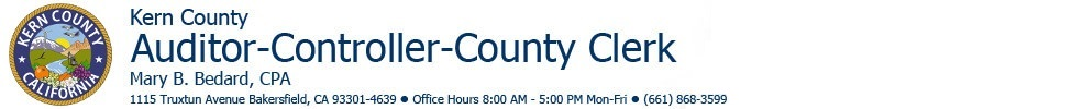 Kern County Auditor-Controller